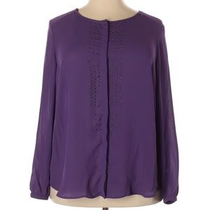 Simply Emma Purple Long Sleeve Blouse